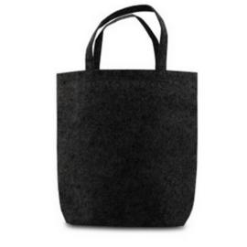 Vilten tote bag - zwart
