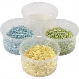 Pearl Clay®, 3x25 gr, 38 gr, lichtblauw, lichtgroen, lichtgeel, 1set