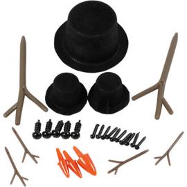 Hoeden, neuzen en takken - 3 setjes (1 groot, 2 klein)
