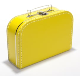 Koffertje 25 cm - Geel