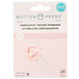 Button Press Paper Clip Backers
