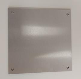 Redbond - silver brushed - 20x20cm