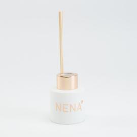 Parfumflesje rond Wit met kleur schroefdop naar keuze - 50 Ml