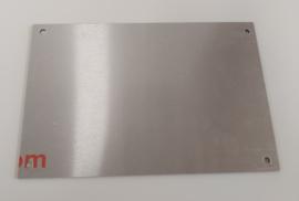 Redbond - silver brushed - 30x20cm