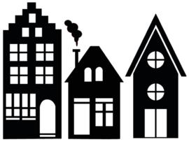 Statische raamfolie - uitbreiding huisjes