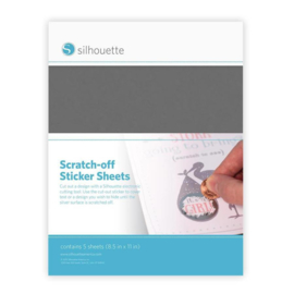 Silhouette Scratch-off Sticker Sheets - Silver