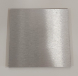 Redbond - silver brushed - 10x10cm