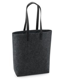 Premium vilten tas - charcoal