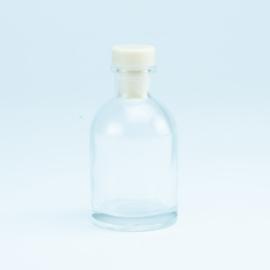 Luxe flesje Transparant met kleur dop naar keuze - 50 Ml