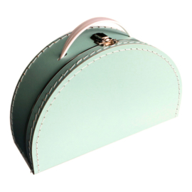 Koffertje halfrond - Mint 28 cm