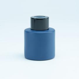 Parfumflesje rond Marineblauw met kleur schroefdop naar keuze - 50 Ml
