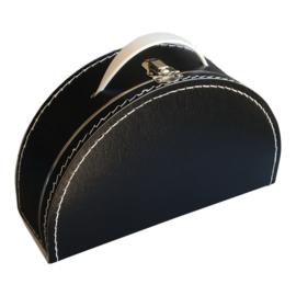 Koffertje halfrond - Zwart