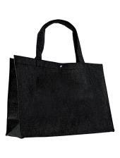 Vilten tas - klein - zwart