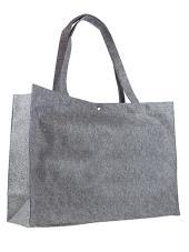 Vilten tas - klein - grijs