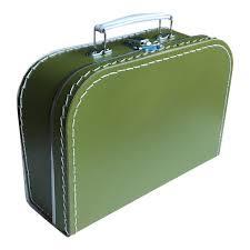 Koffertje 25cm - Olijfgroen