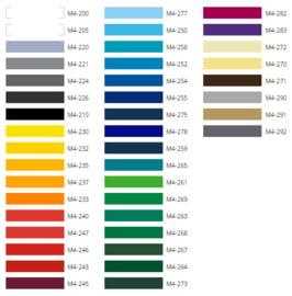 Kleurenkaart Metamark Vinyl (mat en glans)