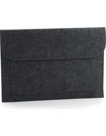 Vilten laptop/document hoes - charcoal