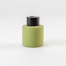 Parfumflesje rond Zijdegroen met kleur schroefdop naar keuze - 50 Ml