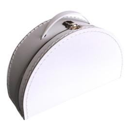 Koffertje halfrond - Wit 28 cm