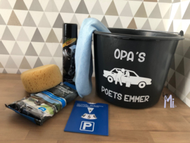 Auto poetsemmer vaderdagpakket van