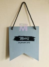 """Geboorte vaantje """"Morris"""""""