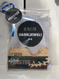 "Plakbandhouder Meester ""Camouflage"""