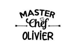 Stickervel II Master Chef+ naam