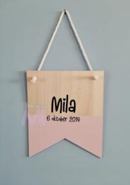 """Geboorte vaantje """"Mila"""""""