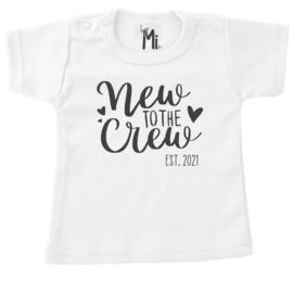 "Shirt ""new to do crew"" t/m maat 104"