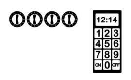 Stickervel II Oven en magnetron knopjes
