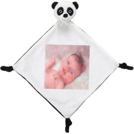 Panda knuffeldoekje met bedrukking