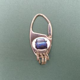 Clipper ziverkleurige sleutelhanger