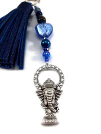 Tashanger met Ganesha en blauwe kwast