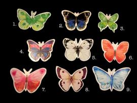 Kaarten met vlinder vormen