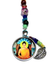 Boeddha hanger met regenboog kralen (a)