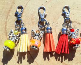 NIEUW: Beschermengeltjes 'geluk' - rood, oranje en geel