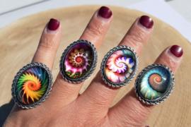 Ringen met schelpmotief