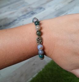 Armbandjes met grote kralen - India agaat - NIEUW!