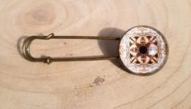 Laatste exemplaar: bloemvormige mandala - bronskleurig