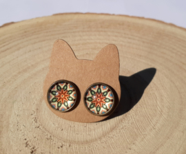 Mandala oorbellen (1)