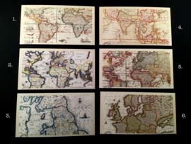 Kaarten met landkaarten