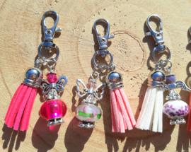 NIEUW: Beschermengeltjes 'geluk' - roze en paars