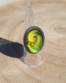 Ringen met schelpmotief 2