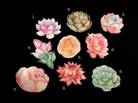 Kaarten met bloemen vorm