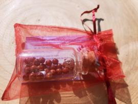 Wensflesje met armbandje om zelf te maken - Rode Jaspis