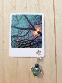 Natuurstenen engeltje met kaartje