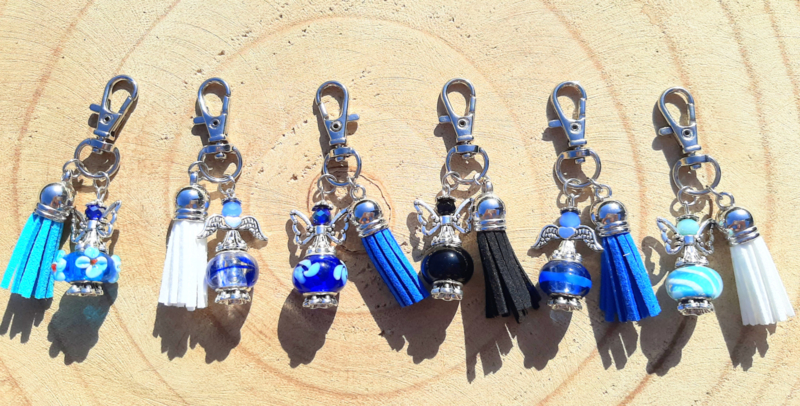 NIEUW: Beschermengeltjes 'geluk' - blauw, zwart en wit
