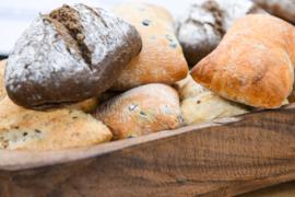 Assortiment  brood met dippers €2.50 per persoon