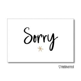 Cadeaulabel | Sorry | MIEKinvorm