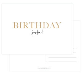 Kaart | Birthday babe! | Stationery & Gift